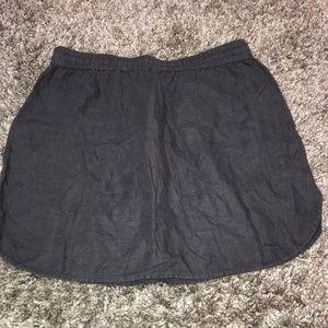Caslon Skirts - Caslon Women's L Gray Easy Linen Skirt Pockets Dra